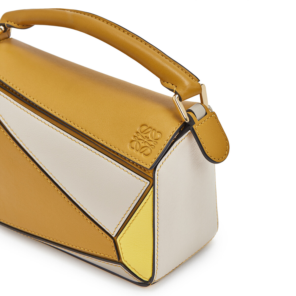 LOEWE Puzzle Mini Bag Ochre/Yellow front