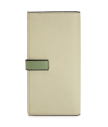 LOEWE Large Vertical Wallet Sage/Pale Green front