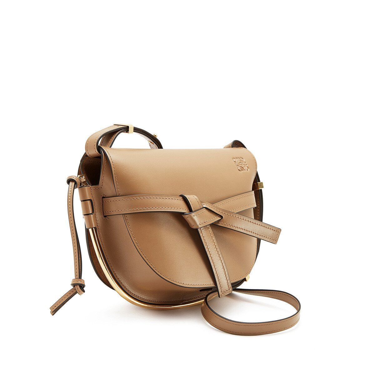 LOEWE Gate Frame Small Bag Mink Color front
