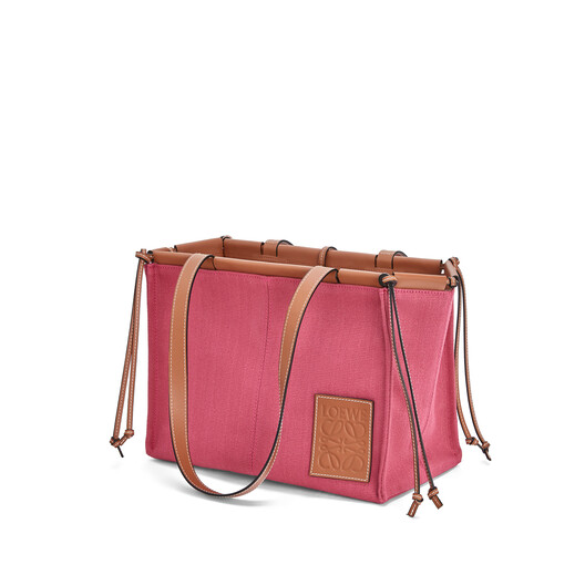 LOEWE 小号Cushion Tote手袋 覆盆莓色 front