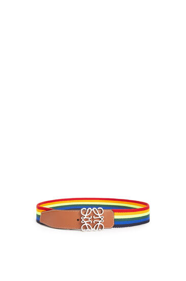 LOEWE Anagram Rainbow Belt 4cm Multicolor/Tan pdp_rd