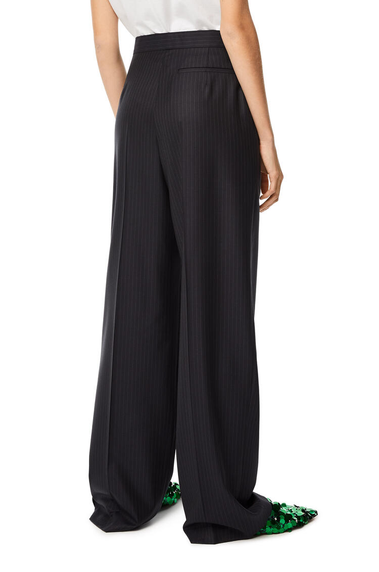 LOEWE Pantalón de traje en lana Negro/Azul Marino pdp_rd