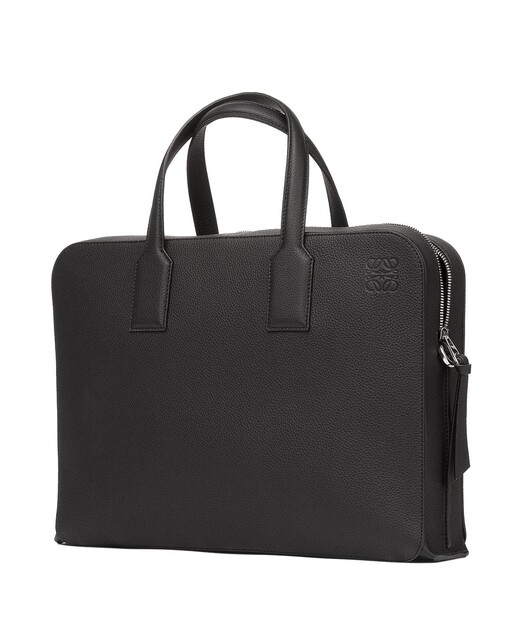 LOEWE Goya Thin Briefcase Black front