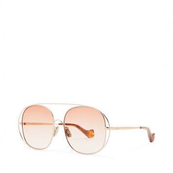 LOEWE Metal Round Sunglasses ピーチ front