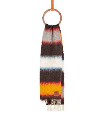 LOEWE 23X185 Mohair Scarf Stripes Multicolor front