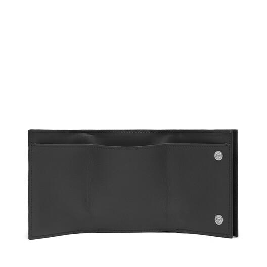 LOEWE Billetero Triple Linen Negro front