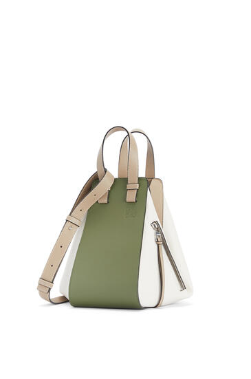 LOEWE Small Hammock bag in classic calfskin Avocado Green/Sand pdp_rd