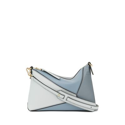 LOEWE パズルポシェットバッグ Stone Blue Multitone front