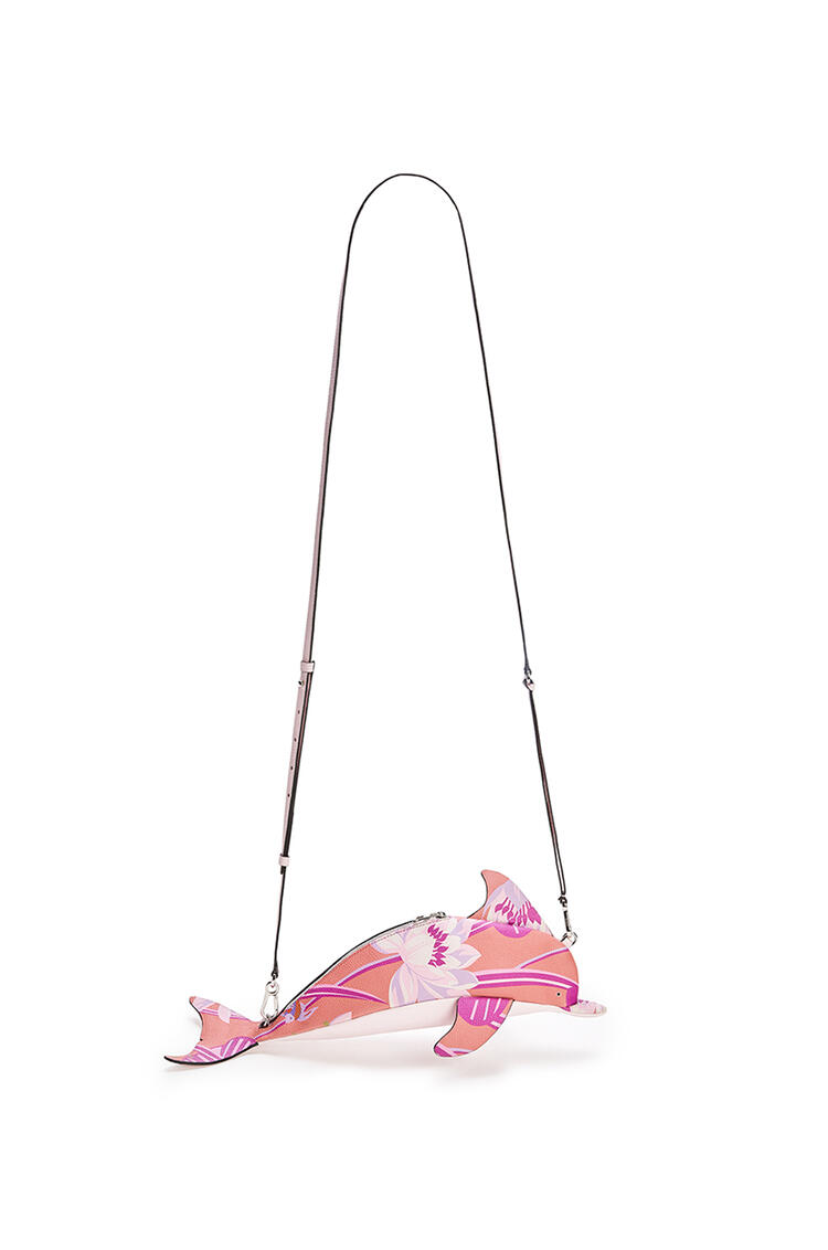 LOEWE Mini Dolphin Bag In Waterlily Classic Calfskin Pink pdp_rd