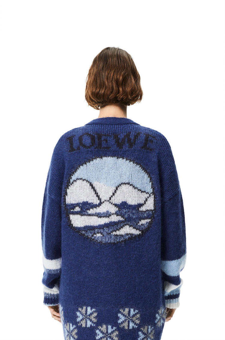LOEWE Rebeca oversize en mohair con oso Marino/Azul Royal/Blanco pdp_rd
