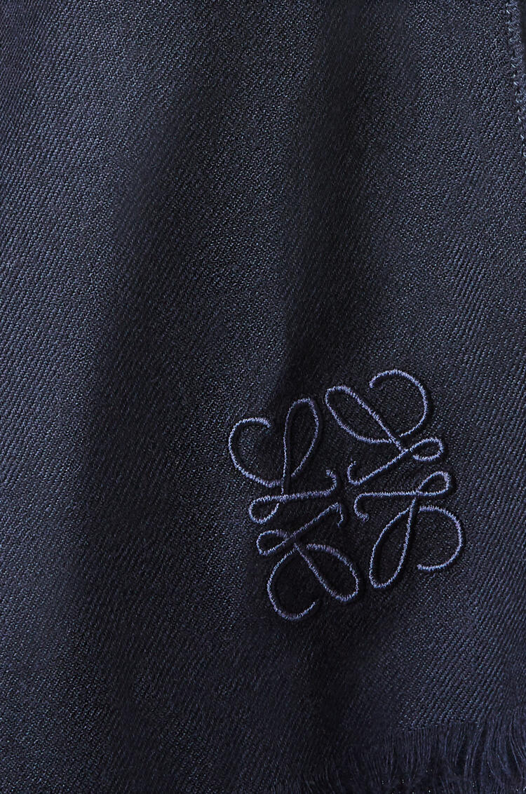 LOEWE Scarf in cashmere Navy Blue pdp_rd