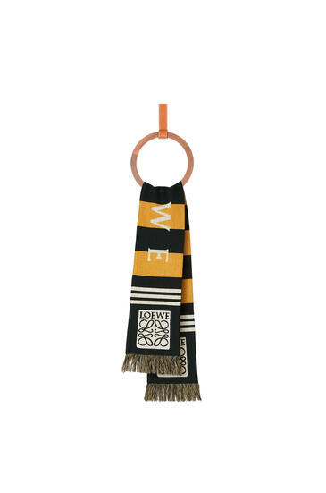 LOEWE 17 x 120 cm LOEWE jacquard scarf in cashmere Yellow pdp_rd