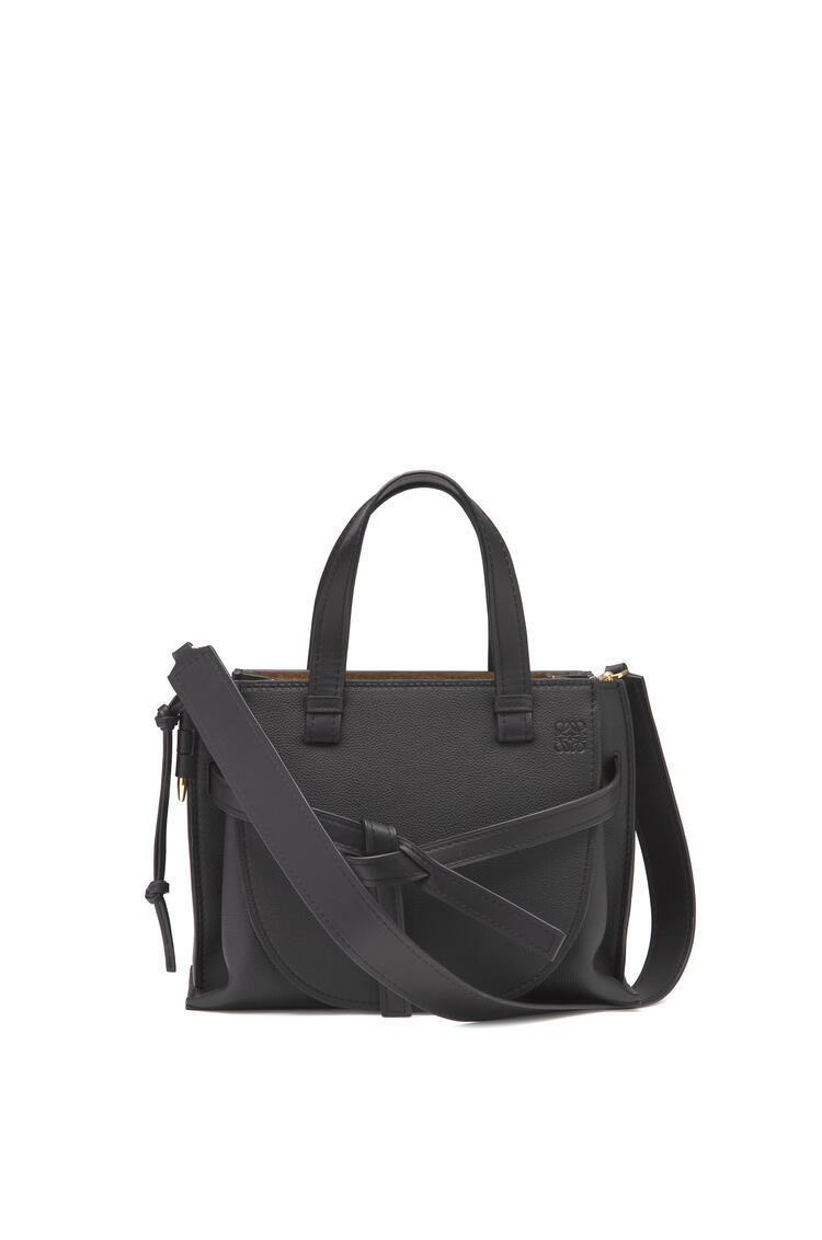 LOEWE Small Gate Top Handle bag in soft grained calfskin Black pdp_rd