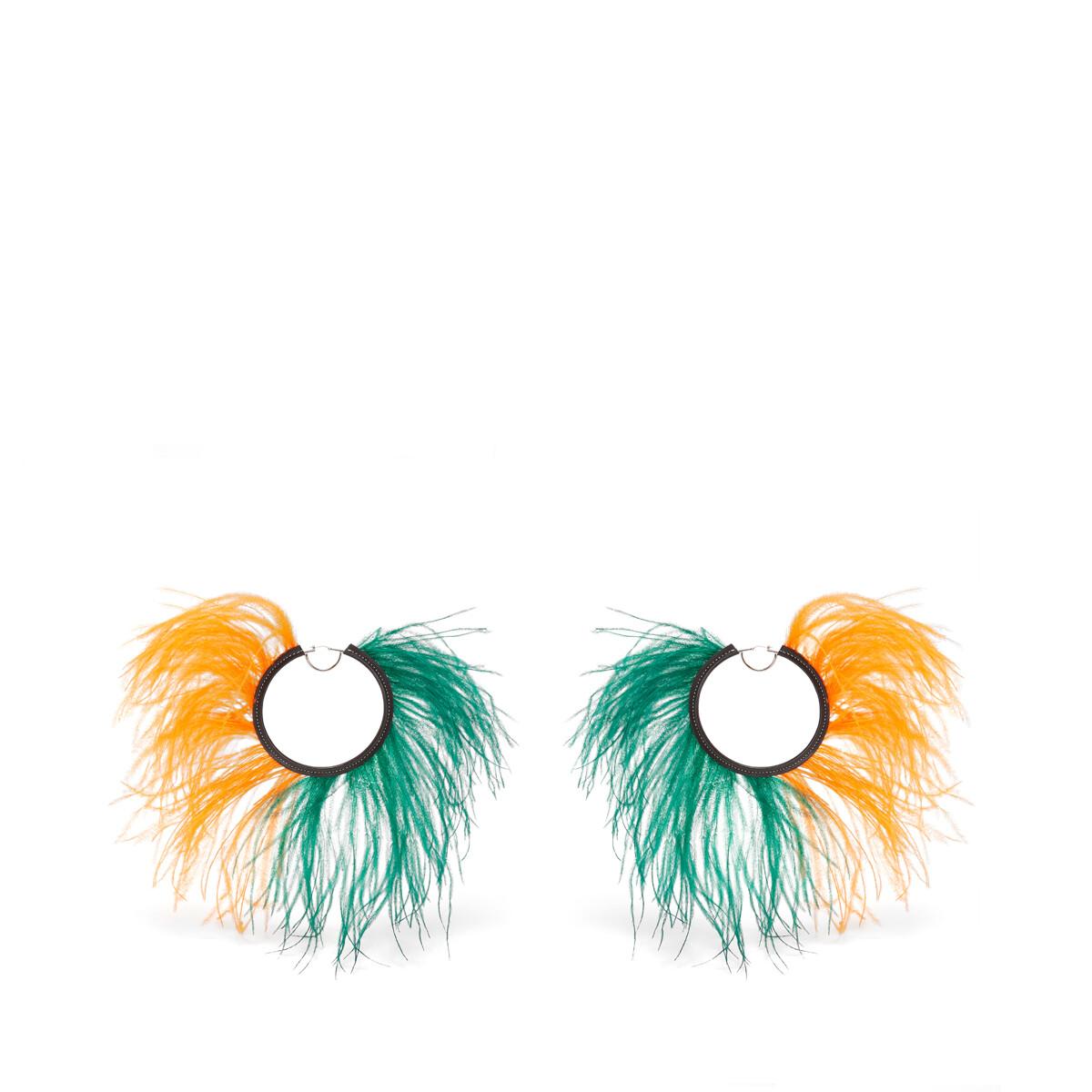 LOEWE Feathers Loops Orange/Green front