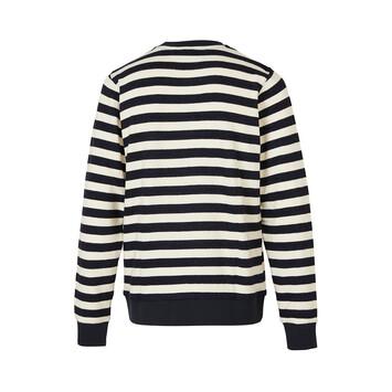 LOEWE Paula Stripe Sweatshirt White/Navy Blue front