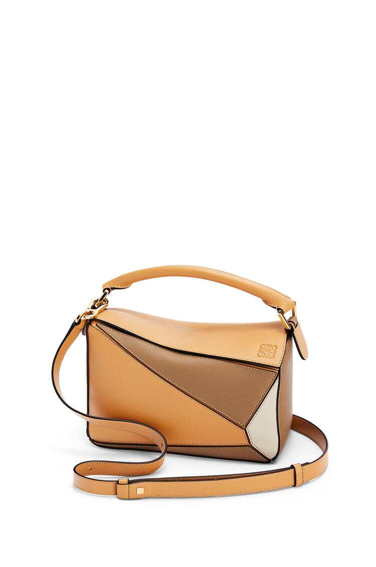 LOEWE Small Puzzle bag in classic calfskin Warm Desert/Mink Color pdp_rd