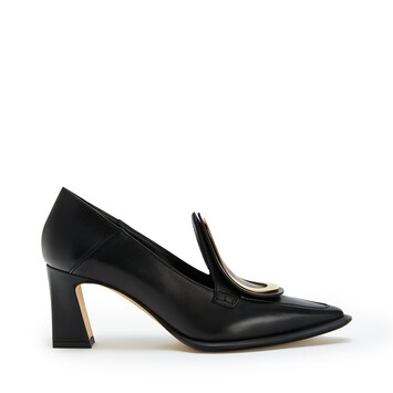 LOEWE Heel Loafer Drop 70 黑色 front