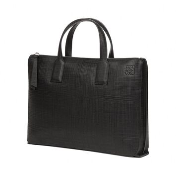 LOEWE Goya Simple Briefcase Black front