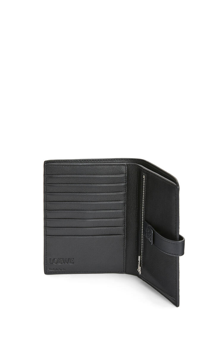 LOEWE Medium Vertical Wallet in soft grained calfskin Black pdp_rd