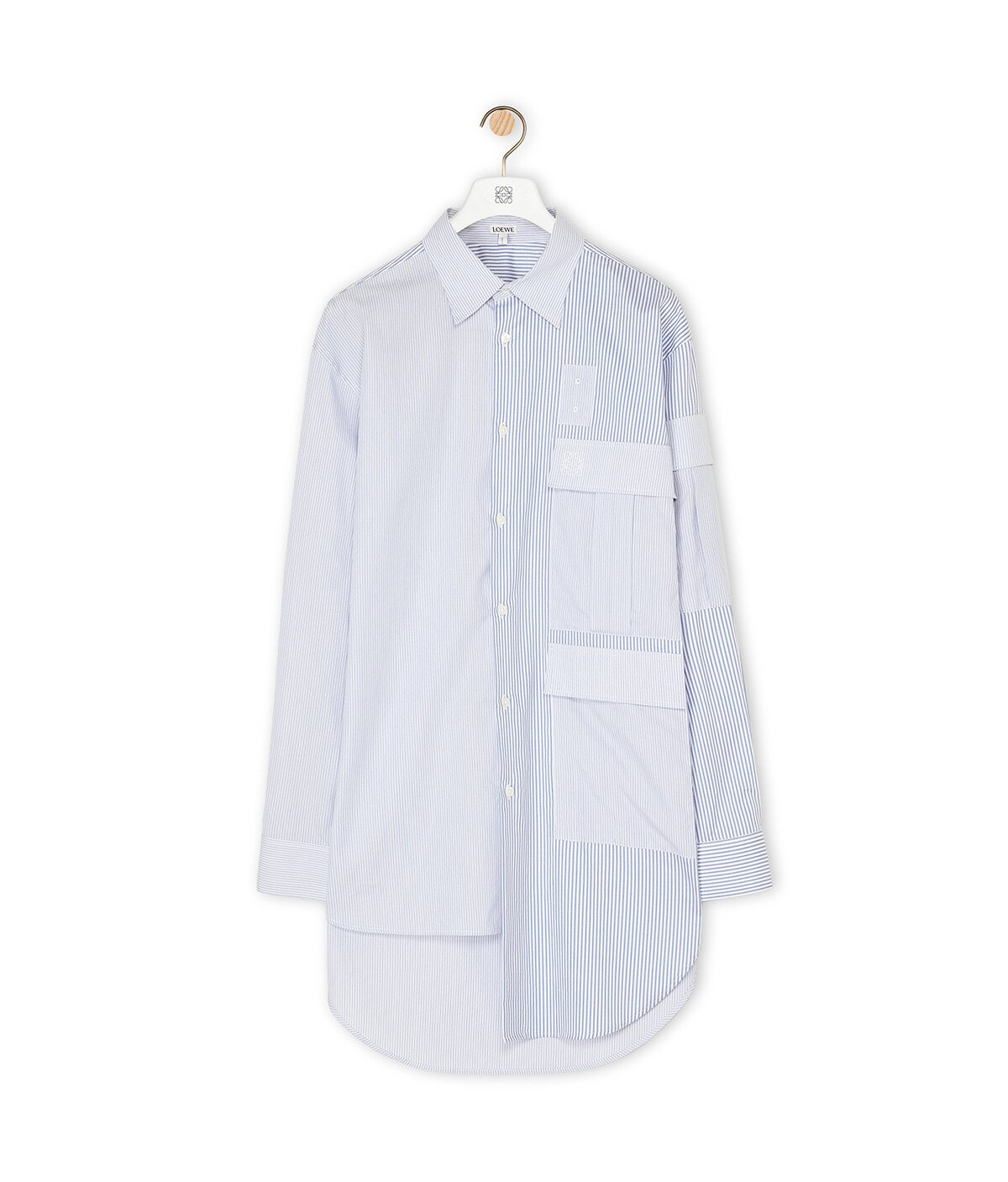 LOEWE Multipocket Shirt white/blue front
