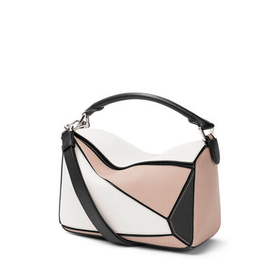 LOEWE Puzzle Small Bag Soft White/Sand front