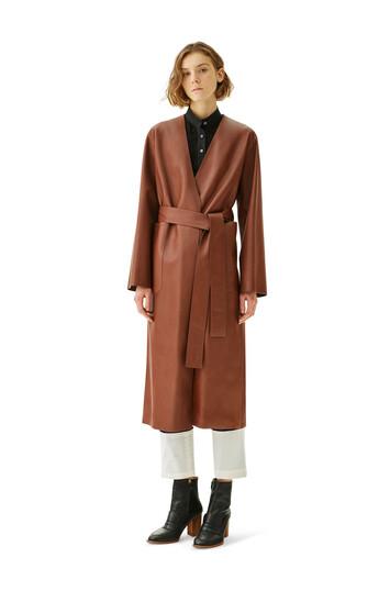LOEWE Long Coat Dark Brown front