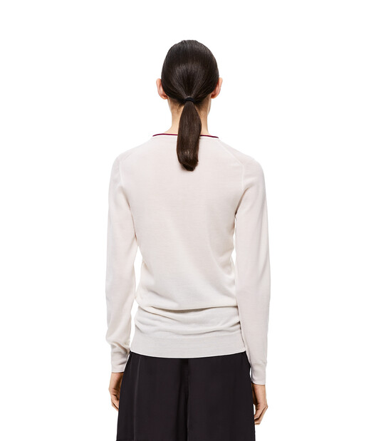LOEWE Angram Sweater Ecru front
