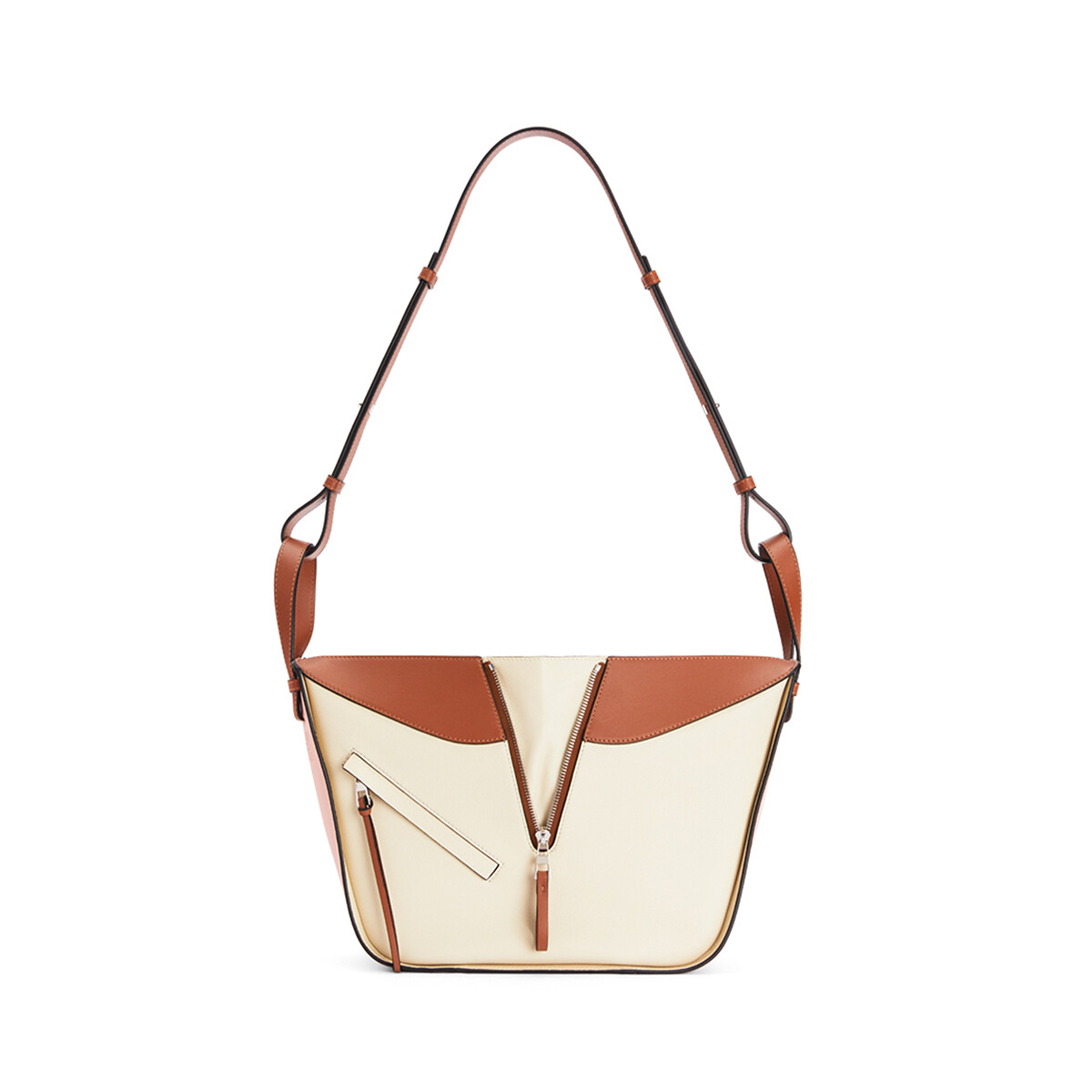 LOEWE Small Hammock Bag In Classic Calfskin Peach Pink/Milk front