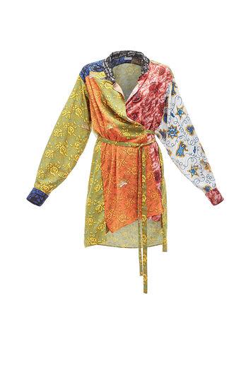 LOEWE Paula Print Wrap Shirtdress Multicolor front