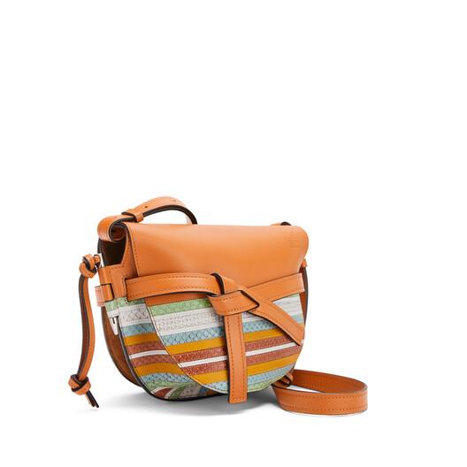 LOEWE 小号海军风Gate手袋 Honey/Multicolor front