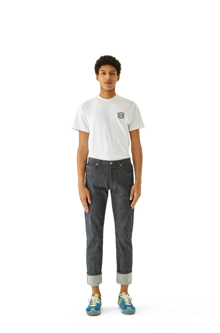 LOEWE Tapered jeans in cotton Blue Denim pdp_rd