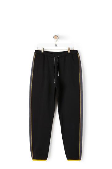LOEWE Fleece trousers in cotton Black pdp_rd