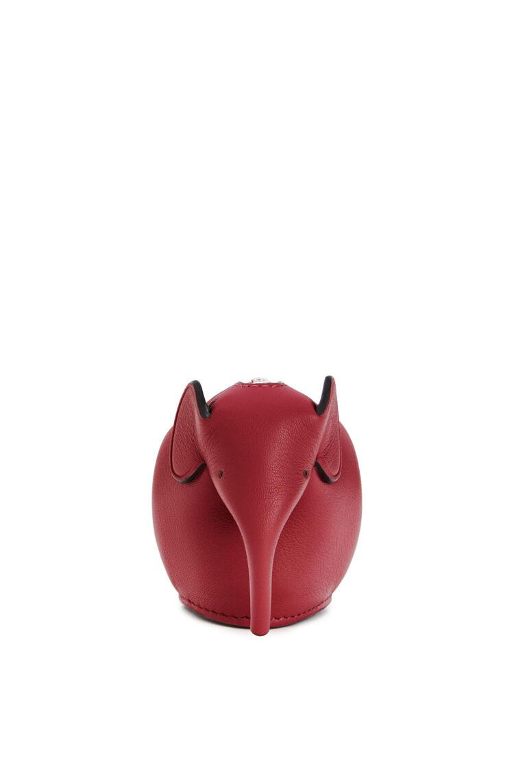 LOEWE Elephant charm in classic calfskin Rouge pdp_rd