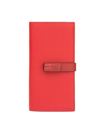 LOEWE Large Vertical Wallet Scarlet Red/Brick Red front