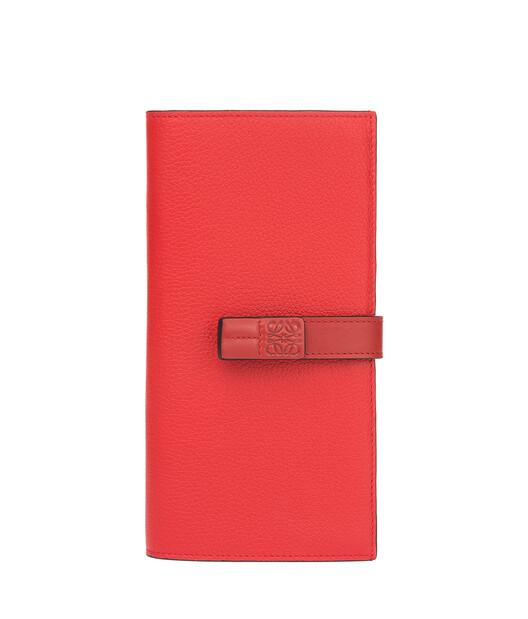 LOEWE Large Vertical Wallet Scarlet Red/Brick Red front