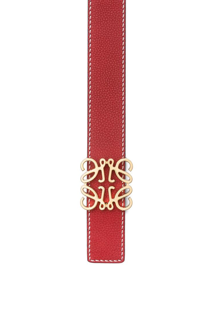LOEWE Anagram Belt In Soft Grained Calfskin Rouge/Black/Gold pdp_rd