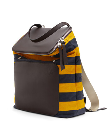 LOEWE Goya Rugby Backpack Marine/Yellow front