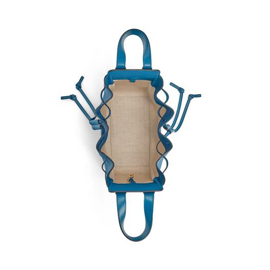LOEWE Hammock Drawstring Small Bag Dark Lagoon front