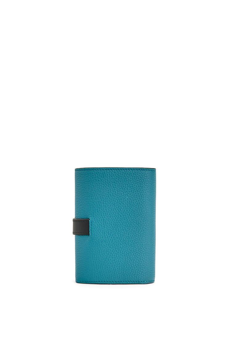 LOEWE Small Vertical Wallet In Soft Grained Calfskin Dark Lagoon pdp_rd