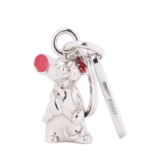 LOEWE Mouse Charm Palladium/Red all