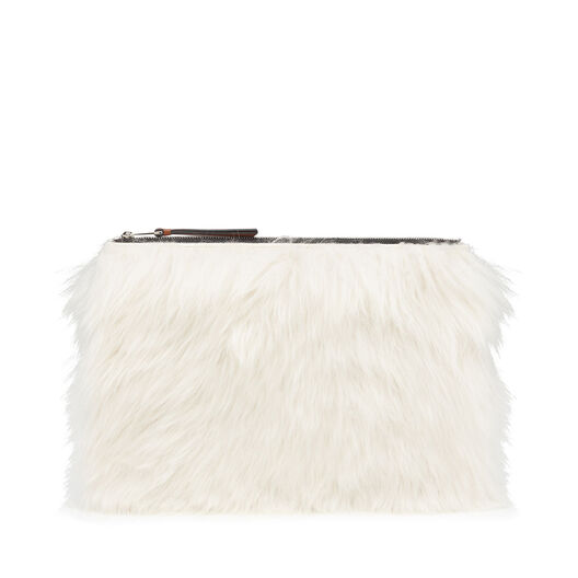 LOEWE Medium Flat Pouch Natural/Black all