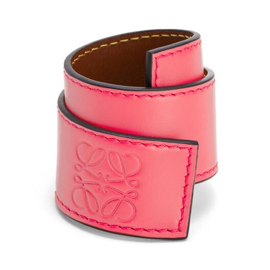 LOEWE Slap Bracelet Small Poppy Pink front