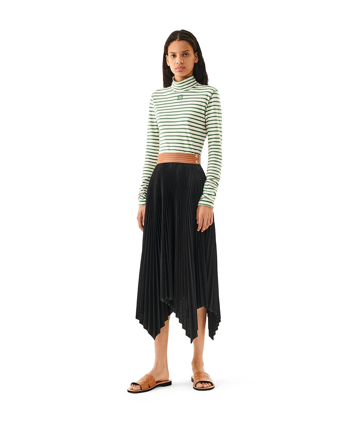 LOEWE Pleated Skirt Negro/Bronceado front
