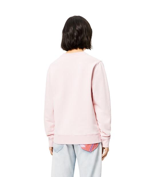 LOEWE Sweatshirt In Cotton Pink front