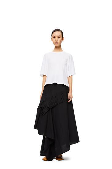 LOEWE Pleated side skirt in cotton Black pdp_rd