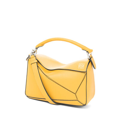 LOEWE Puzzle Small Bag Yellow Mango front