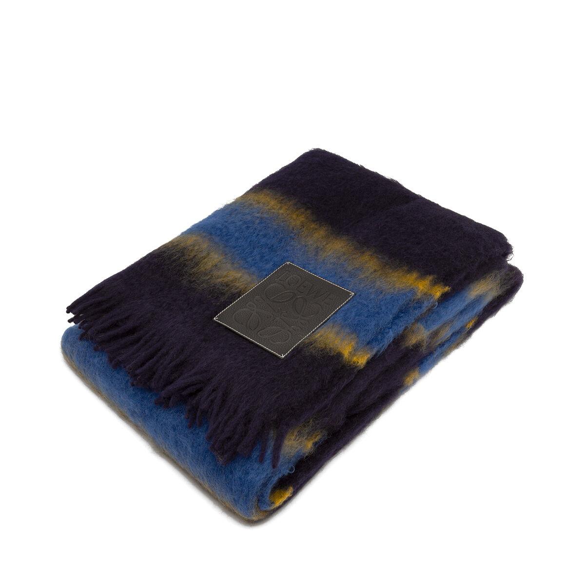 LOEWE 140X200 Stripes Blanket Blue Multitone/Black all