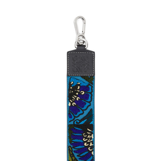 LOEWE Floral Embroidered Strap Peacock Blue front