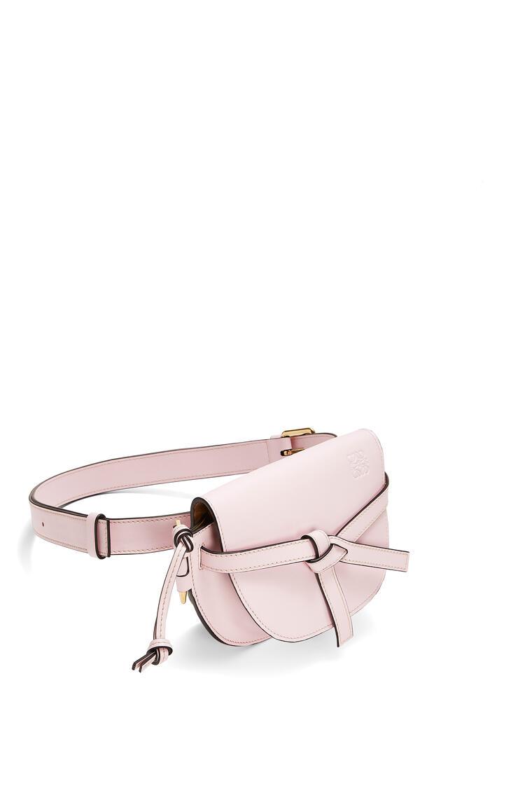 LOEWE Gate bumbag in soft calfskin Icy Pink pdp_rd