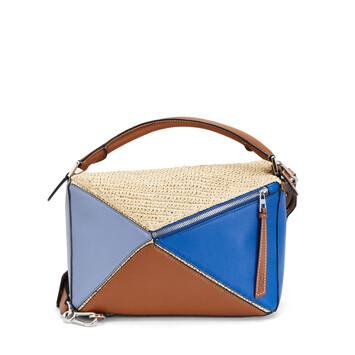 LOEWE Bolso Paula's Puzzle Azul/Natural front